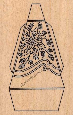 The Danbury Bell, Basket and Fan Wooden Rubber Stamp from Creative Expressions